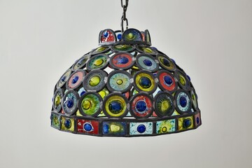alight225 a stained glass ceiling light