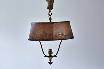 alight229 brown brass toleware hanging shade