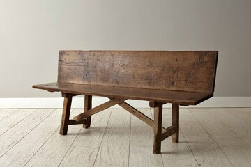 abench33 18th century spanish oak and walnut bench